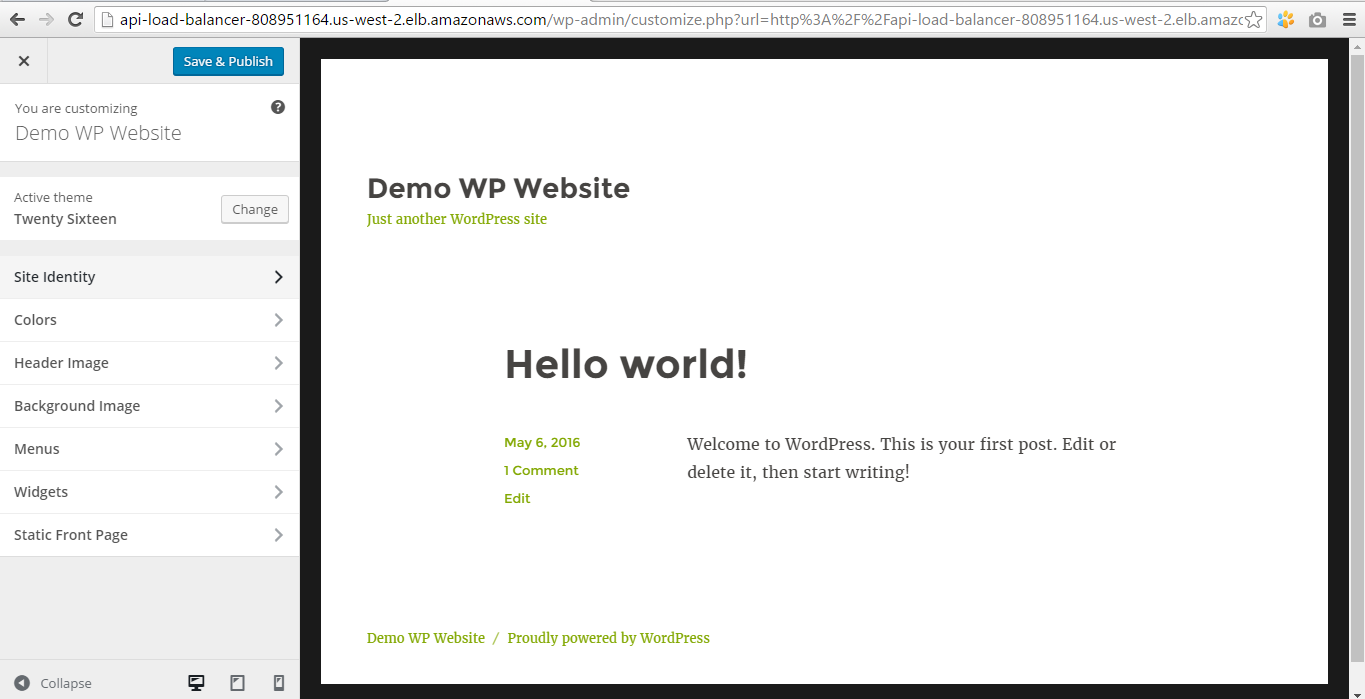 Customizing WP theme